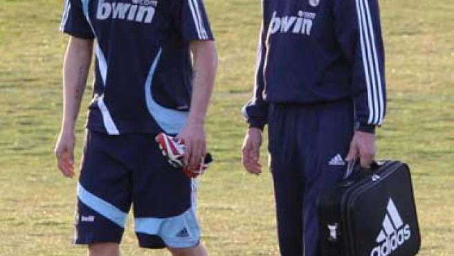Guti, en un entrenamiento. (EFE)