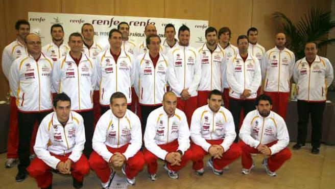 La selección española de balonmano que estará en el Mundial de Croacia. (EFE)