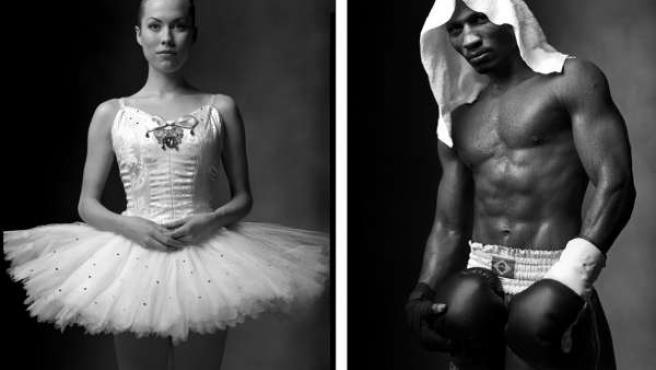 Una bailarina y un boxeador.