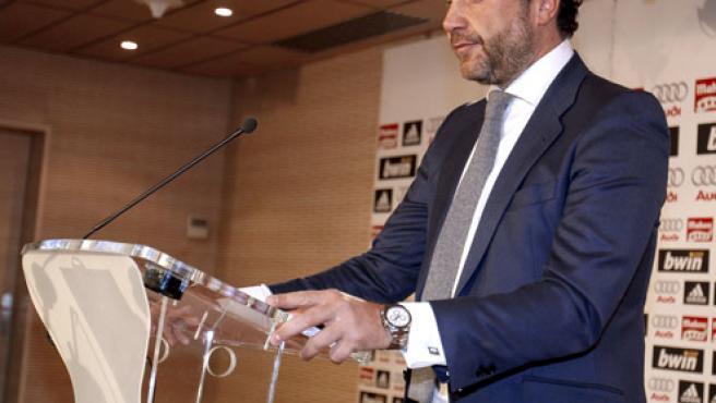 Luis Bárcenas, en una comparecencia pública.