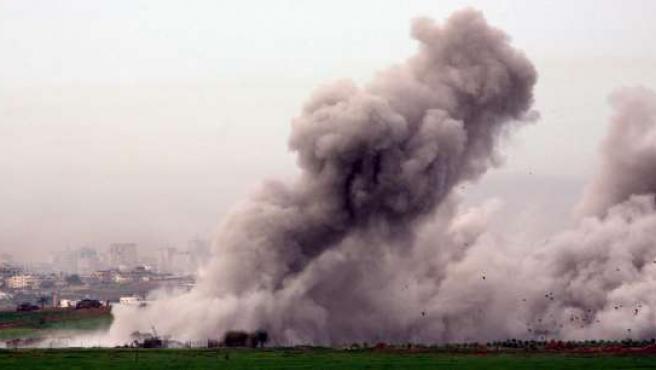 Ataques sobre el sur de Gaza (EFE).