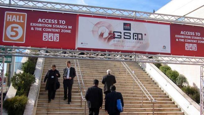 Imagen de archivo de uno de los accesos al Mobile World Congress.