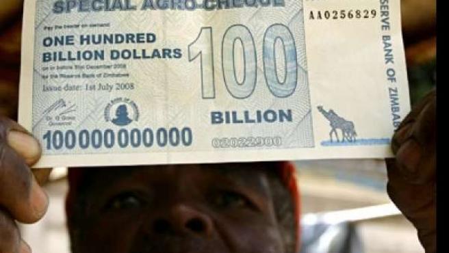 El billete nuevo de Zimbabue (BBC.com )