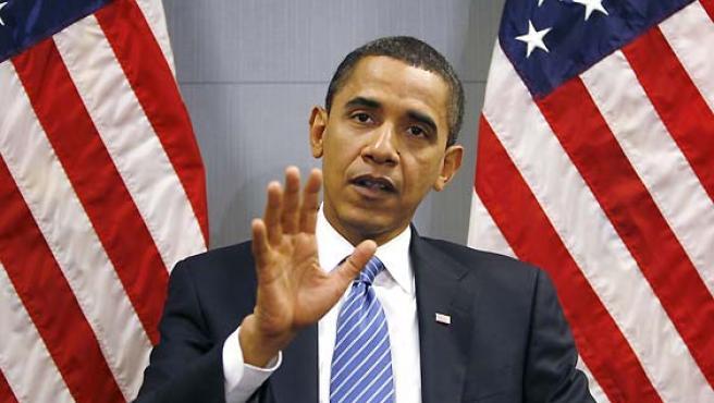 Barack Obama, durante un reciente mitin en Washington. (Kevin Lamarque / Reuters).