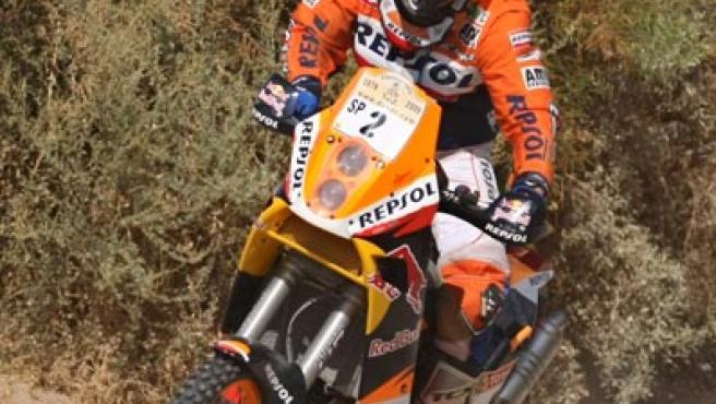 Marc Coma, en el rally Dakar Argentina-Chile.