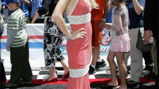 Lindsay Lohan durante una premiere (KORPA).