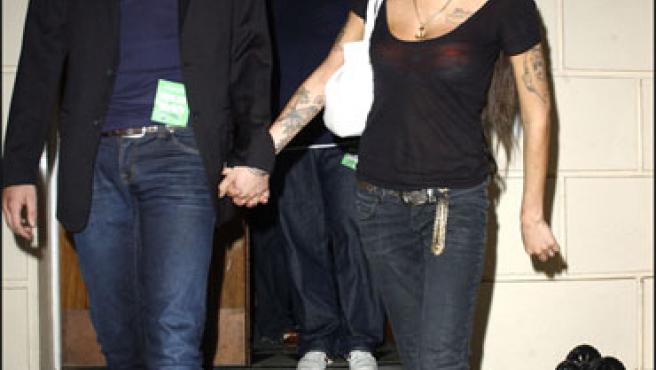 Amy Winehouse y su marido, Blake-Fielder (KORPA).