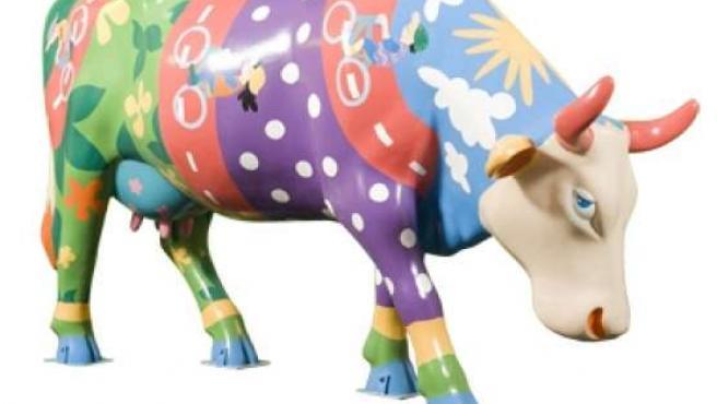 La vaca sustraída de la plaza de Lavapiés, Albertina Pinturina. (ARCHIVO)