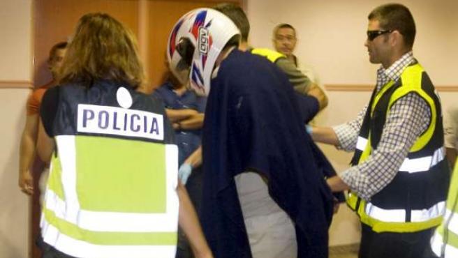 El presunto violador en serie detenido en Las Palmas de Gran Canaria. EFE/JOSE CARLOS GUERRA