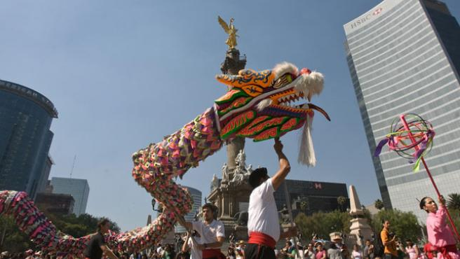 El año nuevo chino se celebra en medio mundo, por ejemplo en México. (EFE)