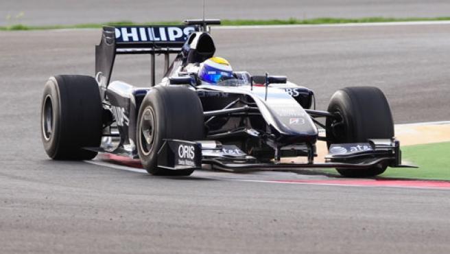 El FW31 de Nico Rosberg rodando por la pista.