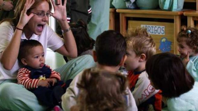 Niños en una guardería. (ARCHIVO).