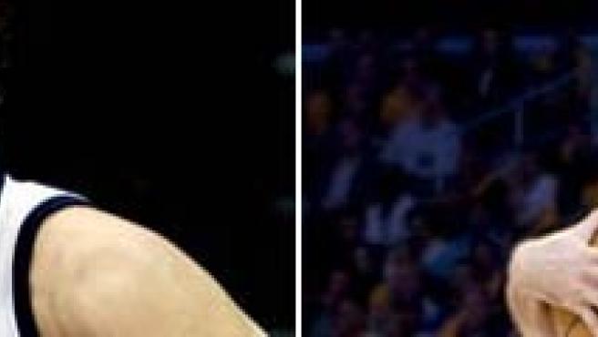 Una imagen de Marc Gasol y Rudy Fernández. (ARCHIVO)
