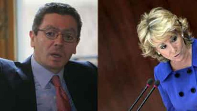 Alberto Ruiz-Gallardón y Esperanza Aguirre. (ARCHIVO)
