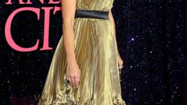 """La actriz Kristin Davis en el el estreno de """"Sex in the City""""."""