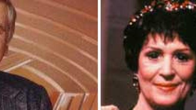 A la izquierda, Eugene Roddenberry; a la derecha, con su esposa, una de las actrices de 'Star Trek'.
