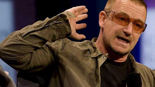 Bono, el cantante de U2, en un concierto.