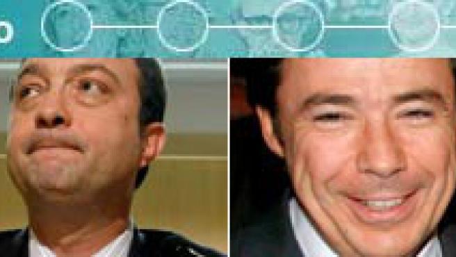 Cuatro de los supuestamente espiados: Alfredo Prada, Manuel Cobo, Ignacio González y Miguel Blesa