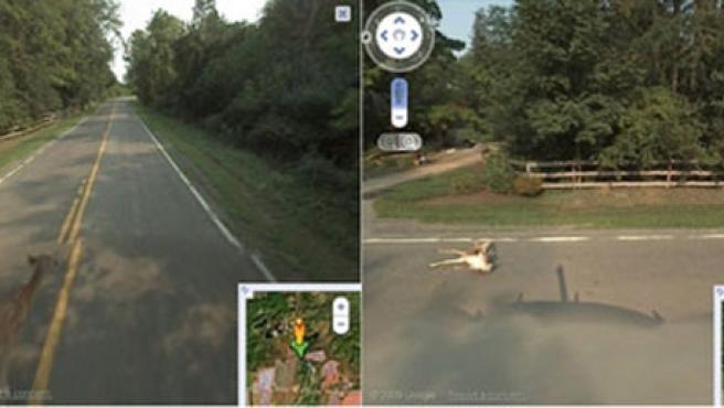Las imágenes del atropello subidas al Street View. THE GUARDIAN