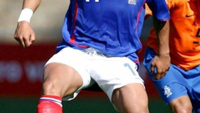 Julien Faubert, en una imagen de archivo con la selección de Francia