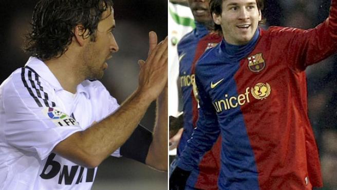 Raúl González y Leo Messi.