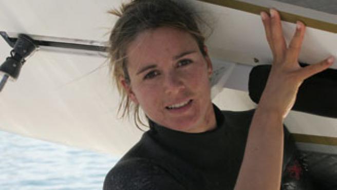 La windsurfista Marina Alabau, en una imagen de archivo. (MARÍA MUIÑA/MOVISTAR)