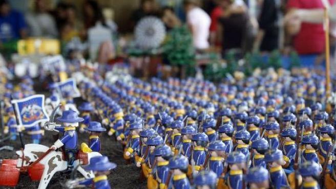 La batalla de Gettysburg, protagonizada por muñecos Playmobil.