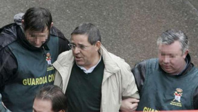 El empresario José María Solís en el momento de ser detenido. (ARCHIVO)