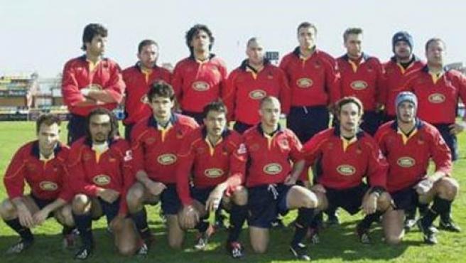 La seleccion española de rugby.
