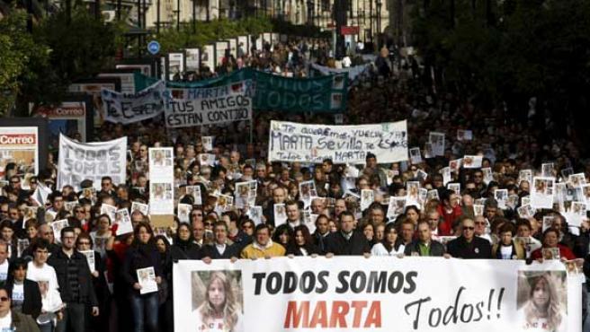 Aspecto de la manifestación en Sevilla. (EFE)