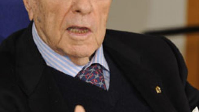 Manuel Fraga, durante una entrevista.