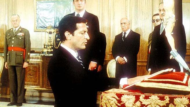 Suárez, en el momento de la jura de su cargo, en 1976.