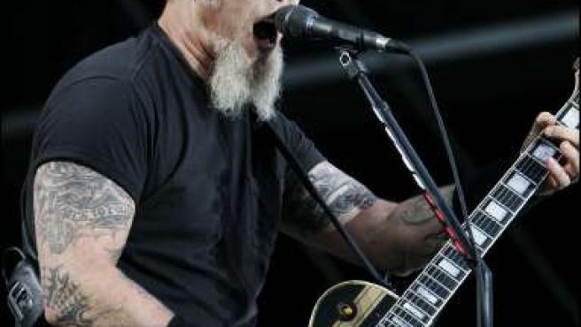 Hetfield, el cantante y guitarrista de Metallica. (KORPA)
