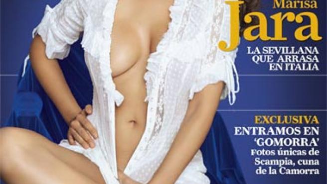 Marisa Jara, chica de portada (Fuente: Revista 'Man').