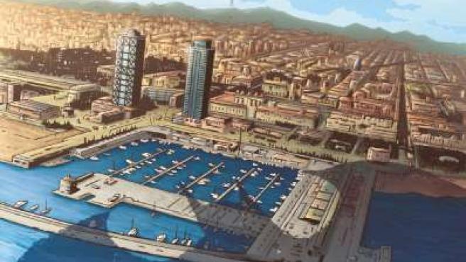 Viñeta de la nueva aventura de Batman, en Barcelona.