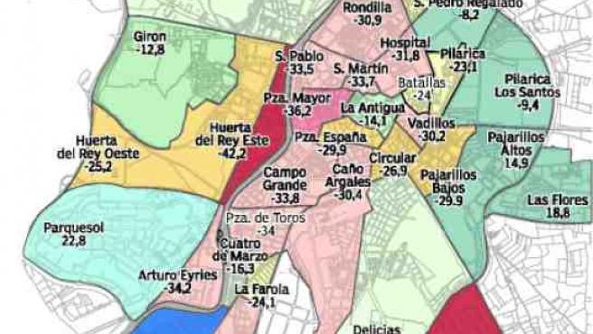 Población de 11 a 29 en Valladolid