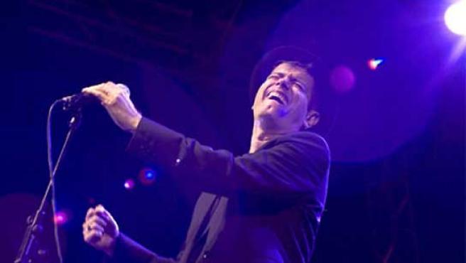 Santiago Auserón, en un concierto.