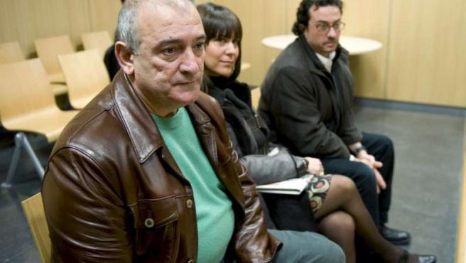Fernando García, durante el juicio, que ha sido suspendido por octava vez consecutiva al no comparecer el criminólogo Juan Ignacio Blanco.