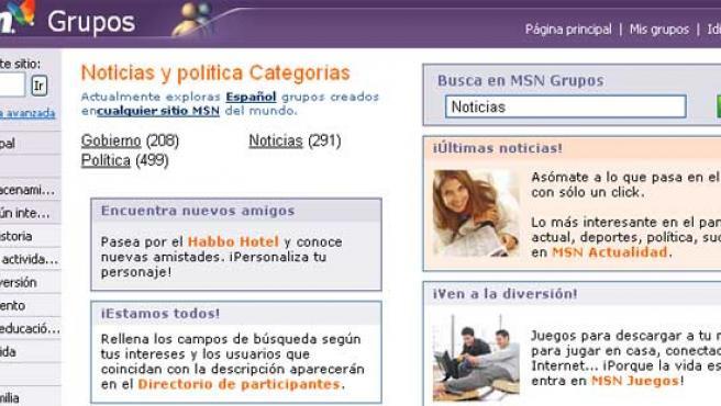 MSN Grupos.