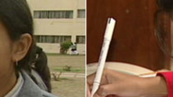 Tuba Sahaab, en dos fotografías tomadas por CNN.