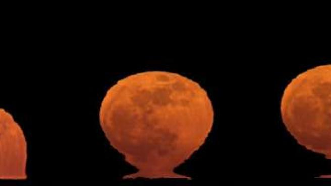 Serie fotográfica que recoge el efecto de jarrón etrusco de la pasada luna llena de febrero.