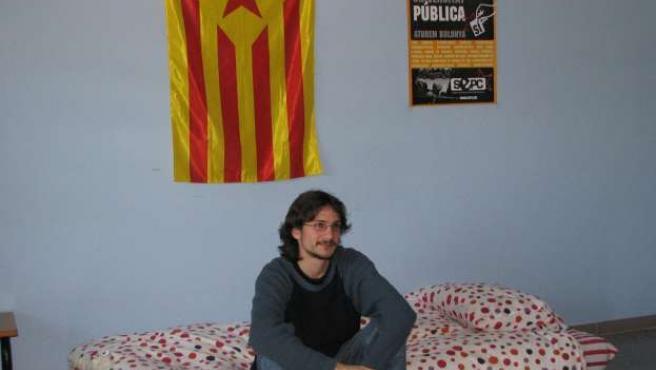 El estudiante Tomàs Sayes, en huelga de hambre.