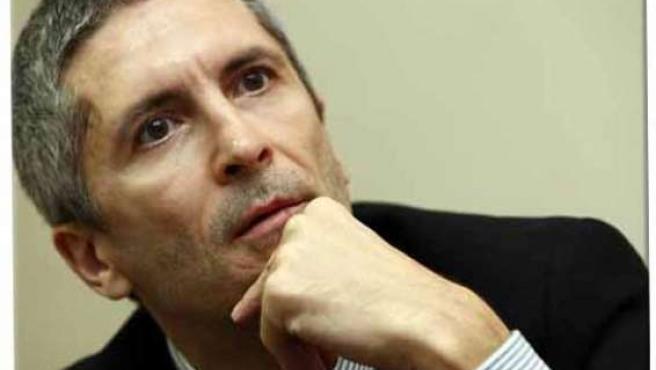 El juez de la Audiencia Nacional Fernando Grande-Marlaska, en su despacho.