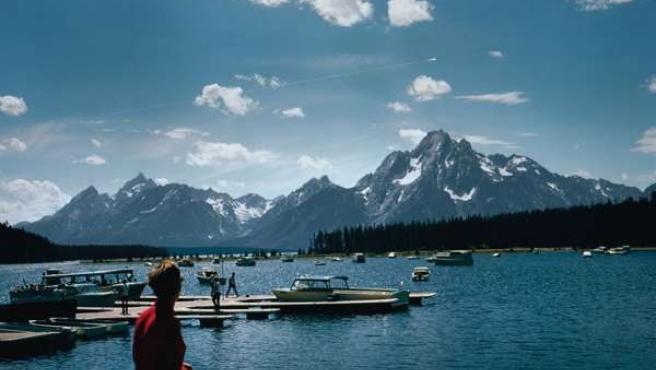 Fotografía del gran bólido diurno de 1972, tomada desde Wyoming, EE UU.