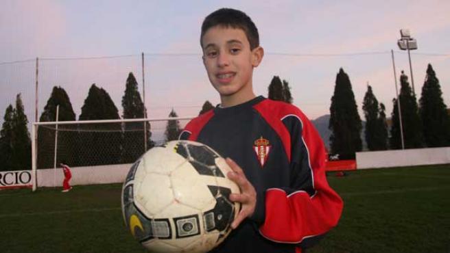 Riki, de 11 años, en Mareo (foto: Mercedes Menéndez).
