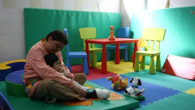La 'kanguroteca', una guardería gratis para padres sin recursos.