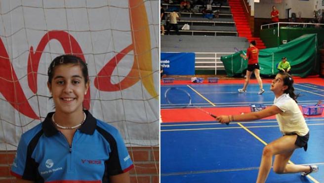 La jugadora onubense Carolina Marín.
