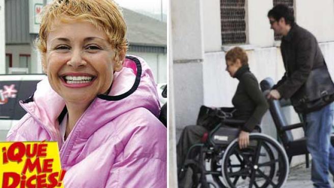 Esther Arroyo reaparece, muy recuperada (a la izda), y hace sólo unos meses en silla ruedas (Fuentes: ¡Qué me dices! / KORPA).