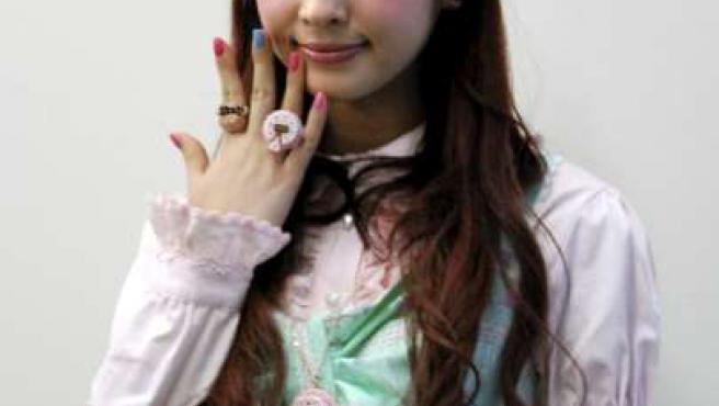 Misako Aoki, líder de la moda Lolita, fue elegida como la embajadora de la cultura pop. (EFE)