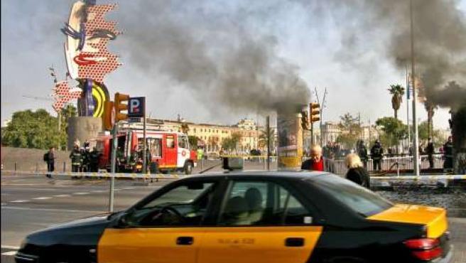 Un taxi de Barcelona en una imagen de archivo.